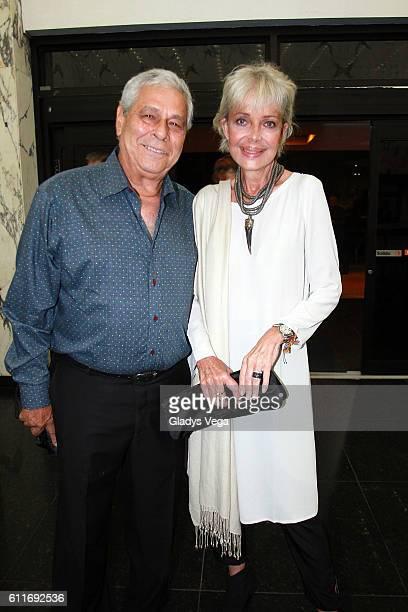 Marisol Malaret and her husband Frank Cu attend Julio Iglesias in Concert at Centro de Bellas Artes on September 30 2016 in San Juan Puerto Rico