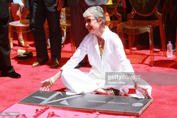 Marisol Malaret is honored with a star in Paseo de la Fama on March 16 2017 in San Juan Puerto Rico