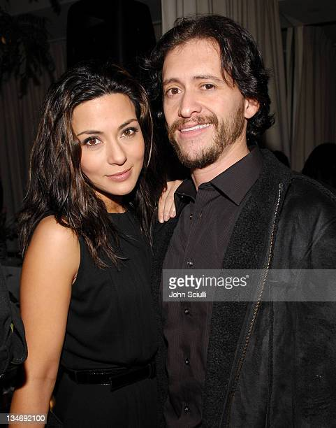 Marisol Nichols and Clifton Collins Jr during Stuart Weitzman at the W Magazine PreGolden Globe Party at Sunset Towers in West Hollywood California...