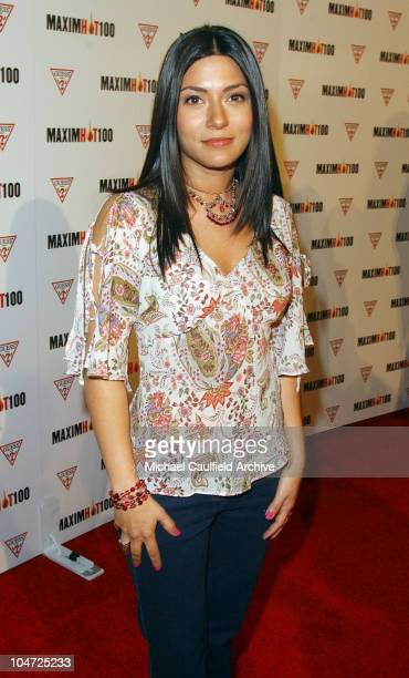 Marisol Nichols during Maxim Hot 100 Party Arrivals at Yamashiro in Hollywood California United States