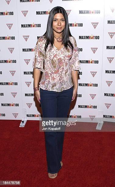 Marisol Nichols during Maxim Hot 100 Party Arrivals at Yamashiro in Hollywood California United States
