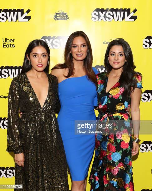 Marisol Sacramento Alex Meneses and Carmela Zumbado attend The Wall of Mexico during the 2019 SXSW Conference and Festivals at Stateside Theatre on...