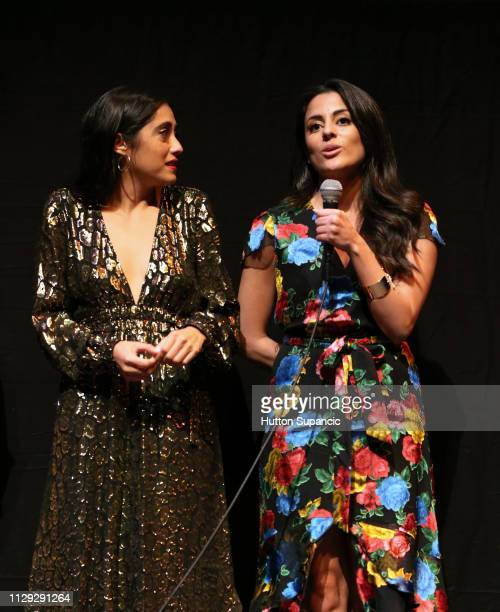Marisol Sacramento and Carmela Zumbado speak onstage at The Wall of Mexico during the 2019 SXSW Conference and Festivals at Stateside Theatre on...
