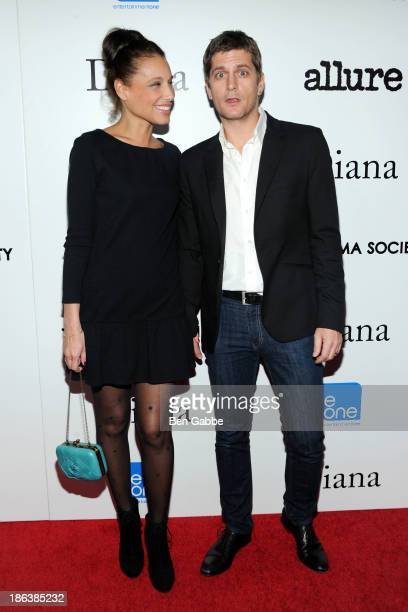 Marisol Thomas and Rob Thomas attend The Cinema Society with Linda Wells Allure Magazine premiere of Entertainment One's 'Diana' at SVA Theater on...