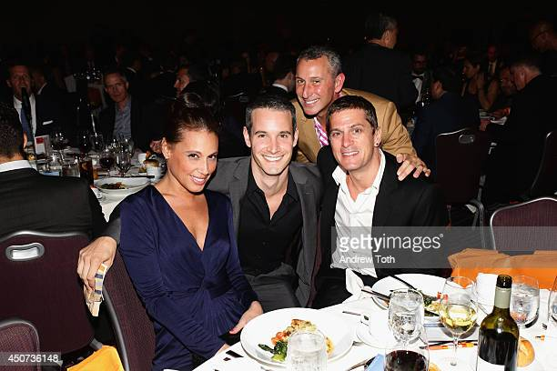 Marisol Thomas guest Adam Shankman Frank Meli and Rob Thomas attend the Trevor Project's 2014 TrevorLIVE NY Event at the Marriott Marquis Hotel on...