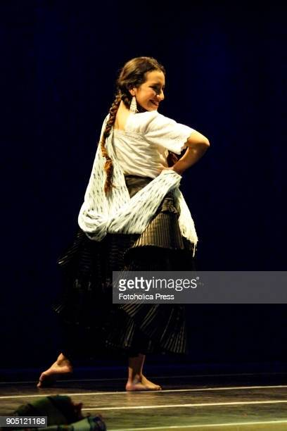 Marisol Veronica Ponce Pinedo dancing a solo of Marinera an old traditional peruvian creole flirting dance