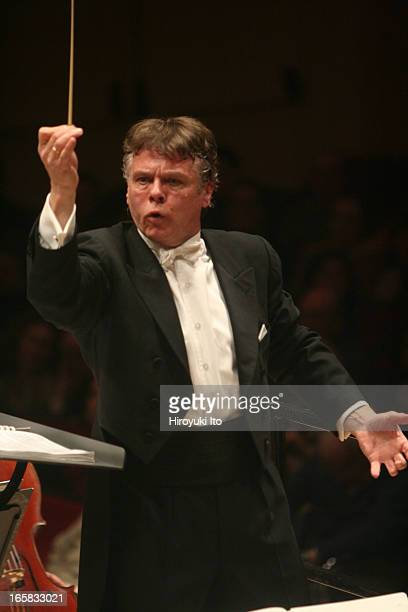 Mariss Jansons conducting the Royal Concertgebouw Orchestra in Shostakovich's Symphony No7 at Carnegie Hall on Tuesday night February 14 2006