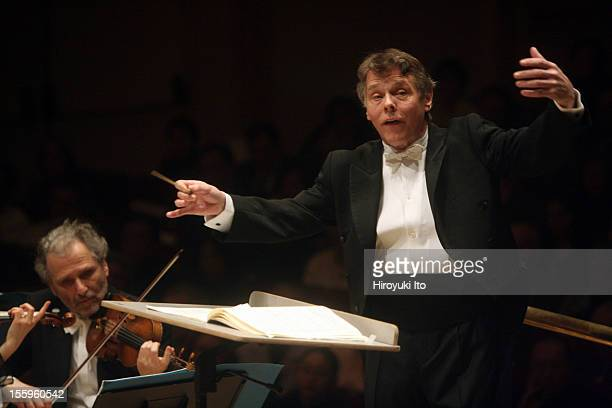 Mariss Jansons leading the Bavarian Radio Symphony Orchestra at Carnegie Hall on Saturday night March 14 2009This imageMariss Jansons leading the...