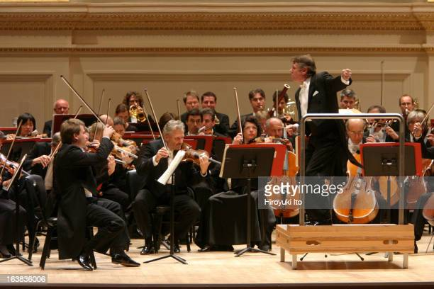 Mariss Jansons leading the Bavarian Radio Symphony Orchestra at Carnegie Hall on Sunday night November 5 2006