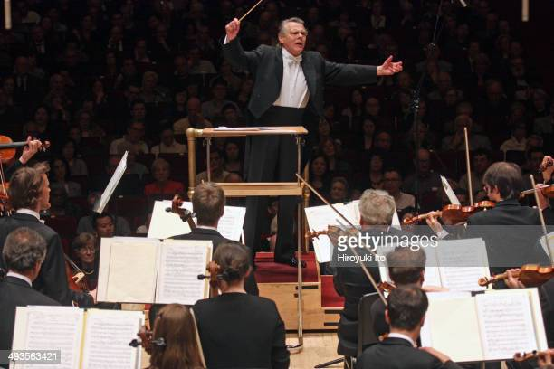Mariss Jansons leading the Bavarian Radio Symphony Orchestra in Shostakovich's Fifth Symphony at Carnegie Hall on Saturday night May 17 2014