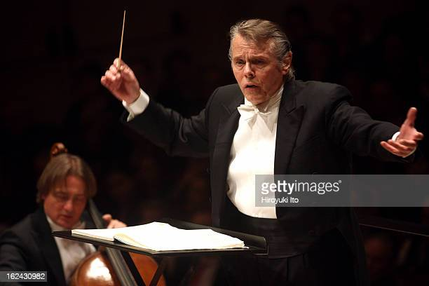 Mariss Jansons leading the Royal Concertgebouw Orchestra in the program of Strauss and Bruckner at Carnegie Hall on Thursday night February 14 2013