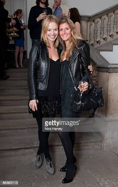 Marissa Anshutz and Justine DobbsHigginson attend the Haunch of Venison party on March 10 2009 in London England