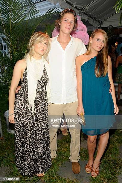 Marissa Bregman Jeremy Platt and Lily Baker attend BEST BUDDIES HAMPTONS BASH at Watermill on August 14 2008