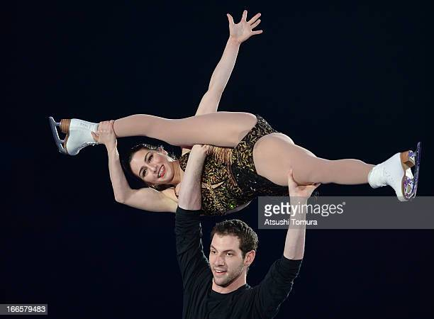 Marissa Castelli and Simon Shnapir of USA perform during day four of the ISU World Team Trophy at Yoyogi National Gymnasium on April 14 2013 in Tokyo...