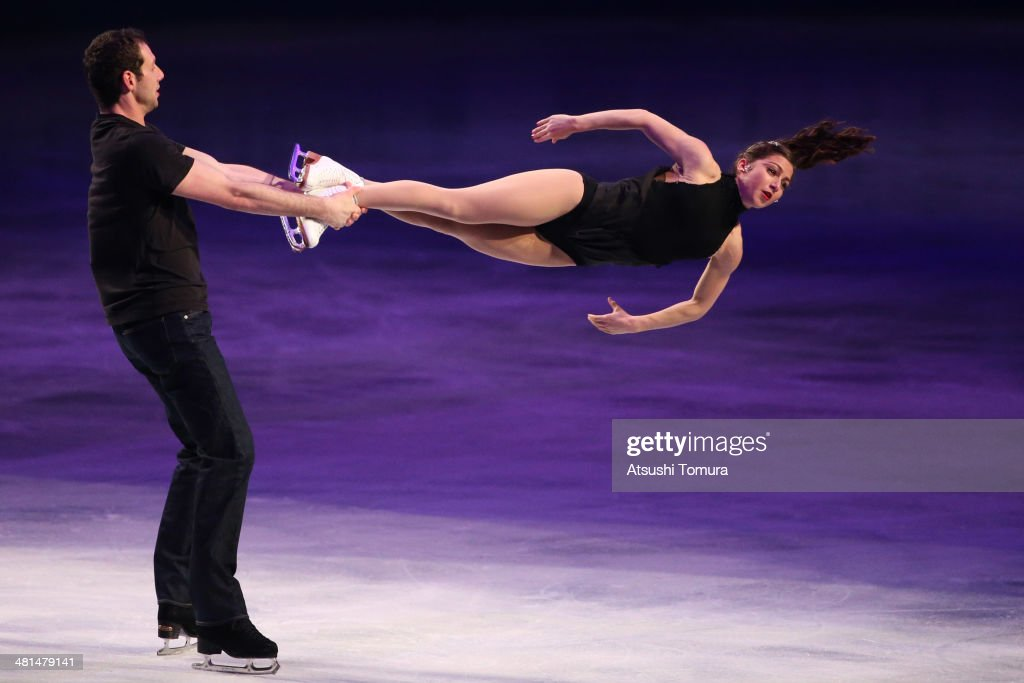 Marissa Castelli and Simon Shnapir of USA perform their routine in the exhibition during ISU World Figure Skating Championships at Saitama Super Arena on March 30, 2014 in Saitama, Japan.