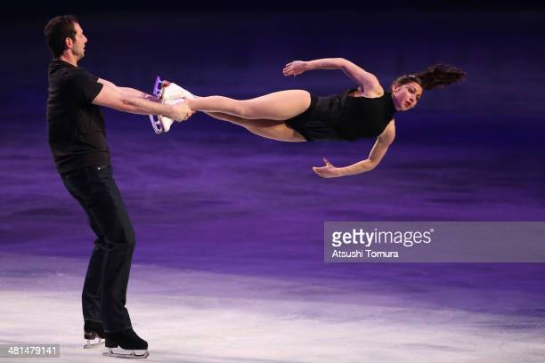 Marissa Castelli and Simon Shnapir of USA perform their routine in the exhibition during ISU World Figure Skating Championships at Saitama Super...