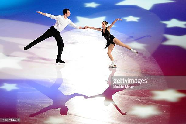 Marissa Castelli and Simon Shnapir skate together during the PG WalMart Tribute to American Legends of the Ice at Izod Center on December 11 2013 in...