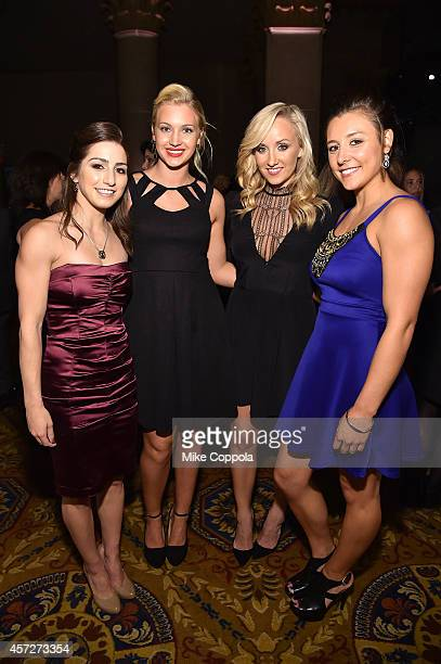 Marissa Castelli Ashley Lober Nastia Liukin and Kim Jacob attend the Women's Sports Foundation's 35th Annual Salute to Women In Sports awards a...