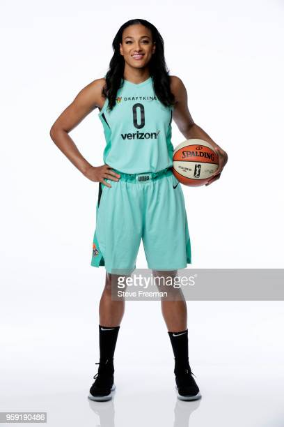 Marissa Coleman of the New York Liberty poses for a head shot during Media Day on May 15 at the Knicks Practice Center in Tarrytown New York NOTE TO...