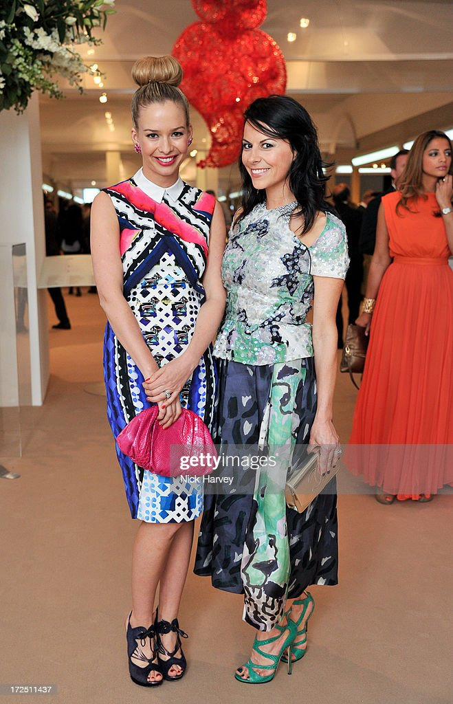 Marissa Hermer and Juliet Angus attend the Masterpiece Midsummer Party in aid of Marie Curie at The Royal Hospital Chelsea on July 2, 2013 in London, England.