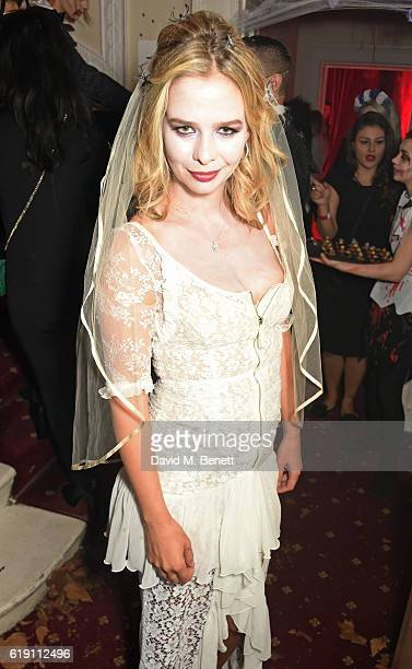 Marissa Hermer attends Halloween at Annabel's at 46 Berkeley Square on October 29 2016 in London England