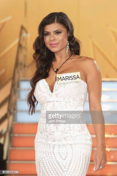 Marissa Jade enters the Big Brother House for the Celebrity Big Brother launch at Elstree Studios on August 1 2017 in Borehamwood England