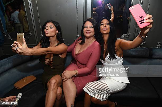 Marissa Jade Karen Gravano and Carla Facciolo attend The Season 6 Premiere of Marriage Boot Camp Reality Stars at Up Down on September 22 2016 in New...