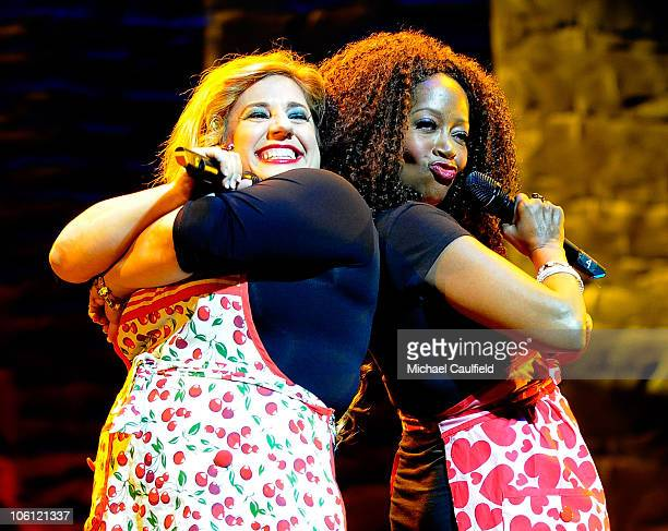 Marissa Jaret Winokur and Jennifer Leigh Warren perform during the 8th annual What A Pair to benefit the John Wayne Cancer Institute at The Broad...