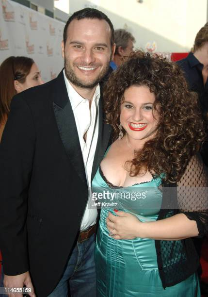 Marissa Jaret Winokur and Judah Miller during Comedy Central Roast of Pamela Anderson Red Carpet at Sony Studio in Culver City California United...