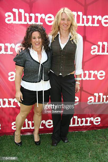 Marissa Jaret Winokur and Lucy Lawless during Allure On Location Los Angeles Debut Presented by Allure Magazine to Benefit Clothes Off Our Back at...