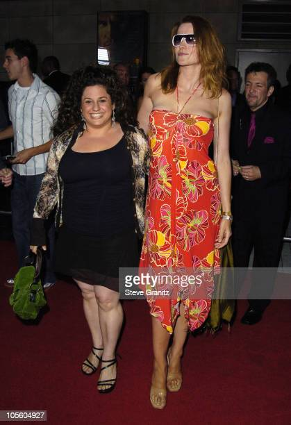 Marissa Jaret Winokur and Lucy Lawless during 'The Ten Commandments' Opening Night at Kodak Theatre in Los Angeles CA United States