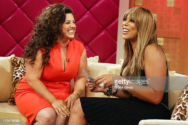 Marissa Jaret Winokur and Wendy Williams on the set of The Wendy Williams Show as she promotes Oxygen's hit show Dance Your Ass Off at The Wendy...