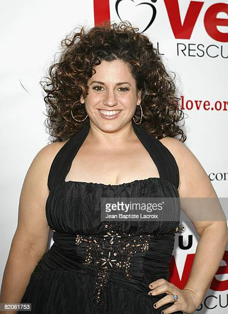 Marissa Jaret Winokur arrives at the Much Love Animal Rescue Presents The Second Annual Bow Wow WOW at The Playboy Mansion on July 19 2008 in Beverly...