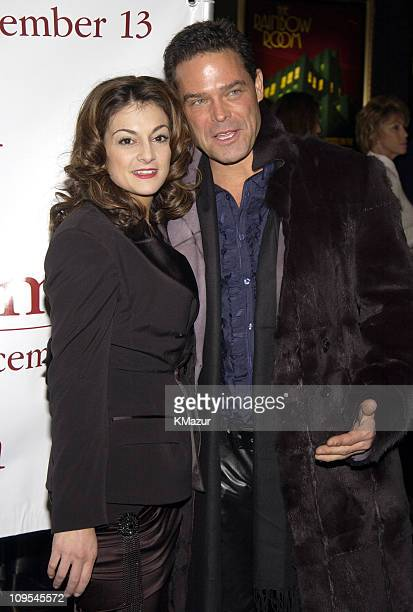 Marissa Matrone and guest during Maid in Manhattan Premiere AfterParty at The Rainbow Room in New York City New York United States