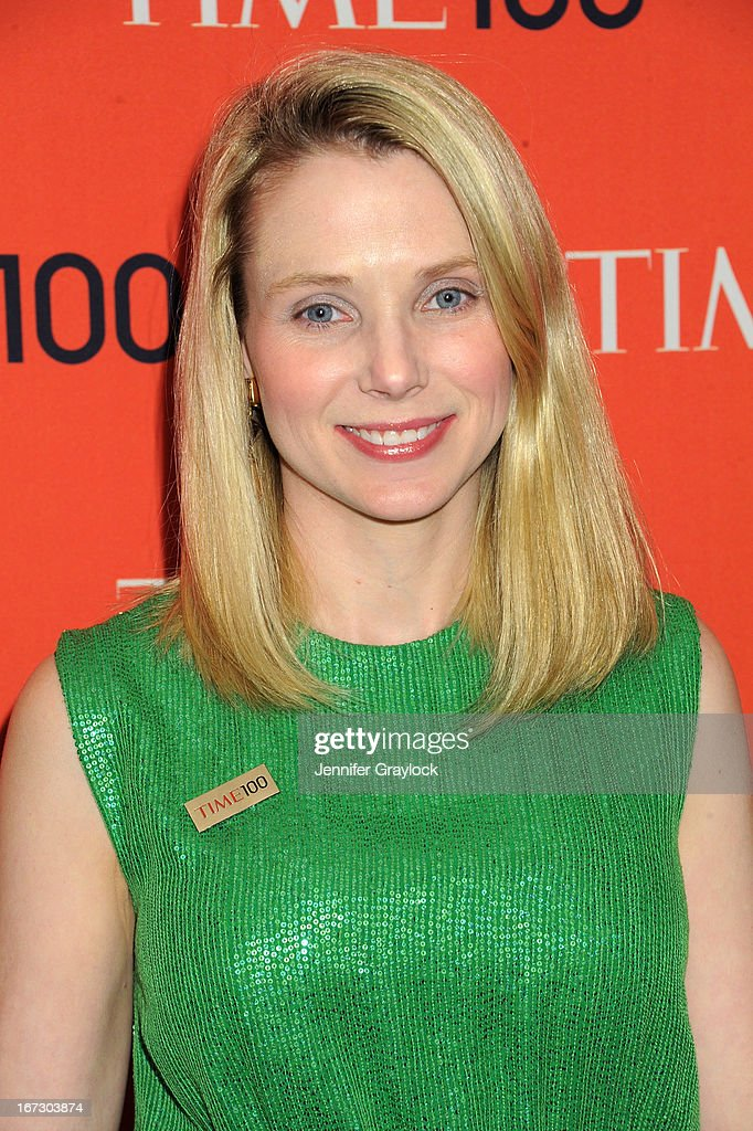 Marissa Mayer attends the 2013 Time 100 Gala at Frederick P. Rose Hall, Jazz at Lincoln Center on April 23, 2013 in New York City.