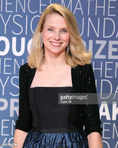 Marissa Mayer attends the 7th Annual Breakthrough Prize Ceremony at NASA Ames Research Center on November 4, 2018 in Mountain View, California.