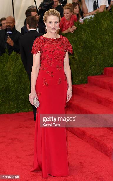 Marissa Mayer attends the 'China Through The Looking Glass' Costume Institute Benefit Gala at Metropolitan Museum of Art on May 4 2015 in New York...