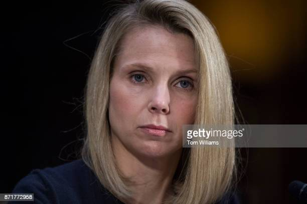 Marissa Mayer former CEO of Yahoo testifies during a Senate Commerce Science and Transportation Committee hearing titled 'Protecting Consumers in the...