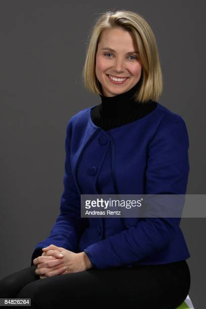 Marissa Mayer, Google, looks on during a portrait session at the Digital Life Design conference on January 26, 2009 in Munich, Germany. DLD brings...