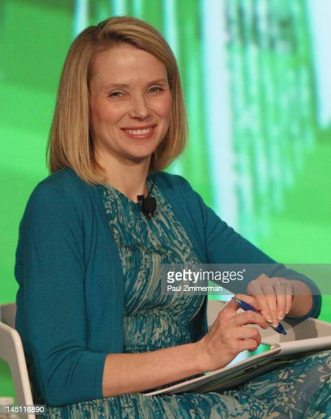Marissa Mayer of Google speaks at TechCrunch Disrupt NYC 2012 day 3 at Pier 94 on May 22, 2012 in New York City.