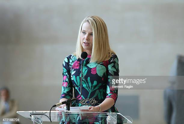 Marissa Mayer President and CEO of Yahoo attends 'China Through The Looking Glass' Costume Institute Benefit Gala Press Preview at Metropolitan...