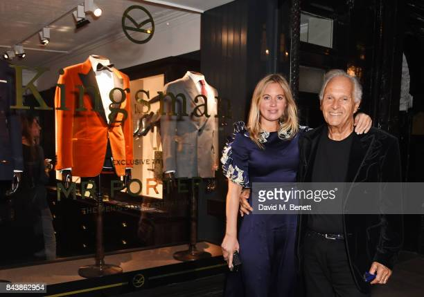 Marissa Montgomery and David Montgomery attend the launch of the 'Kingsman' shop on St James's Street in partnership with MR PORTER MARV Twentieth...