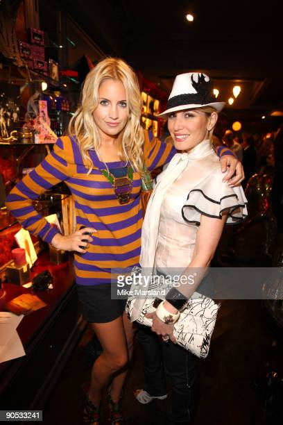 Marissa Montgomery and Hofit Golan attend private view of Coco De Mer And John Stoddart: Love And Lust on September 9, 2009 in London, England.