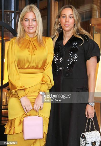Marissa Montgomery and Melissa Mills attend the Burlington Arcade 200th anniversary dinner at Burlington Arcade on May 8 2019 in London England