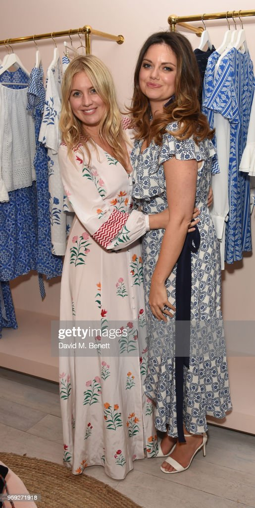 Marissa Montgomery and Natasha Rufus Issacs attend the Beulah London store opening on May 16, 2018 in London, England.