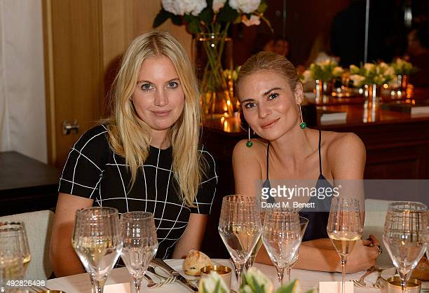 Marissa Montgomery and Pandora Sykes attend the Frieze Dinner hosted by Mugler for their handbag line launch at Rosewood London on October 15 2015 in...