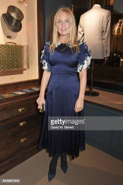 Marissa Montgomery attends the launch of the 'Kingsman' shop on St James's Street in partnership with MR PORTER MARV Twentieth Century Fox in...