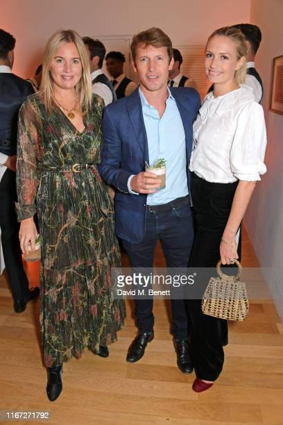 Marissa Montgomery, James Blunt and Sofia Wellesley attend the launch of Champagne Armand de Brignac Blanc de Noirs Assemblage Three at The National...