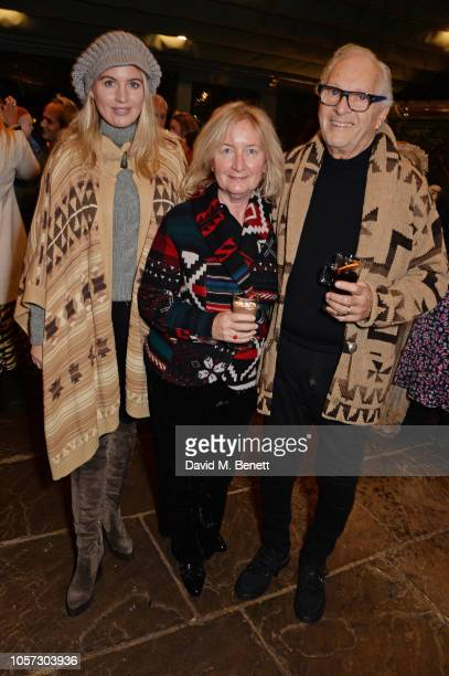 Marissa Montgomery Martine Montgomery and David Montgomery attend The Ivy Chelsea Garden's annual Guy Fawkes party on November 4 2018 in London...