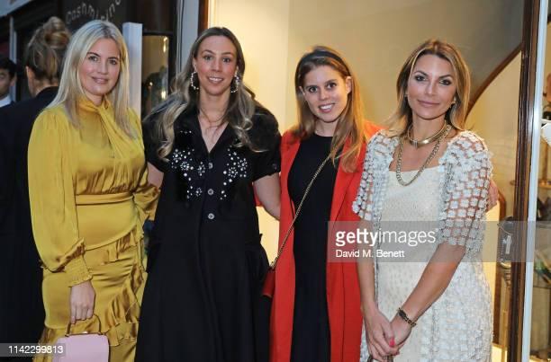 Marissa Montgomery Melissa Mills Princess Beatrice of York and Jordana Reuben Yechiel attend the Burlington Arcade 200th anniversary dinner at...